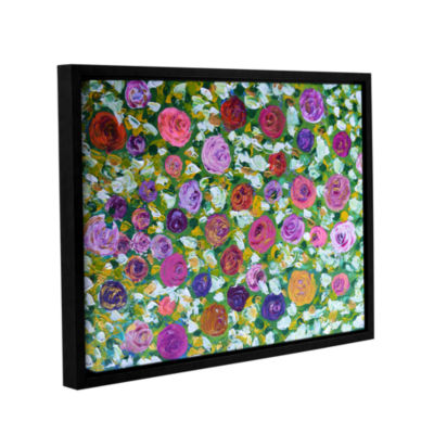 Brushstone Sweet Roses Gallery Wrapped Floater-Framed Canvas Wall Art