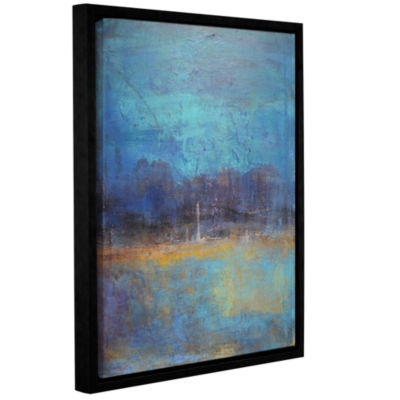 Brushstone Night Away Gallery Wrapped Floater-Framed Canvas Wall Art