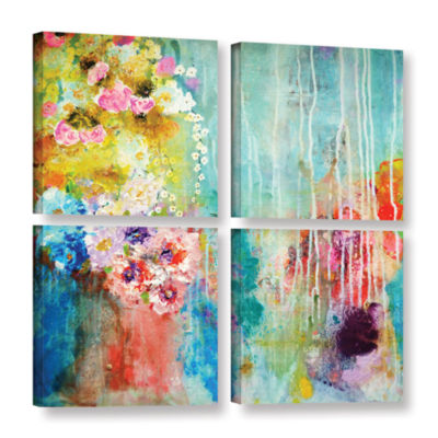 Brushstone Love Is All Around 4-pc. Gallery Wrapped Canvas Square
