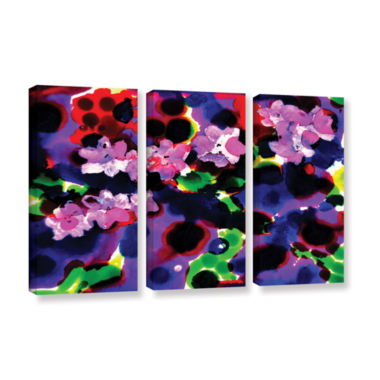 Brushstone Blooming 2 3-pc. Gallery Wrapped CanvasWall Art
