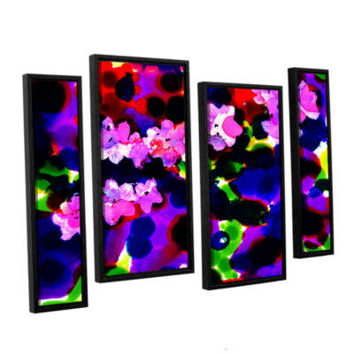 Brushstone Blooming 2 4-pc. Floater Framed Staggered Canvas Wall Art