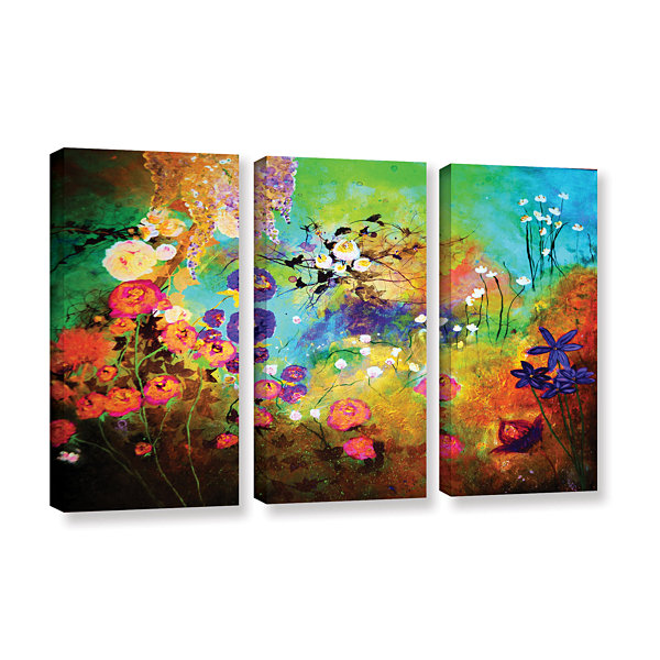 Brushstone The Beauty Of Silence 3-pc. Gallery Wrapped Canvas Wall Art