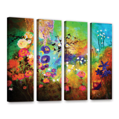 Brushstone The Beauty Of Silence 4-pc. Gallery Wrapped Canvas Wall Art