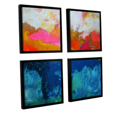 Brushstone The Fall 3 4-pc. Floater Framed CanvasSquare