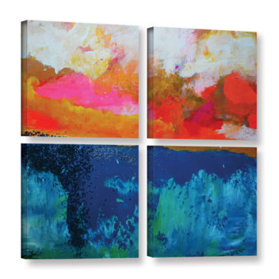 Brushstone The Fall 3 4-pc. Gallery Wrapped CanvasSquare