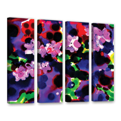 Brushstone Blooming 2 4-pc. Gallery Wrapped CanvasWall Art