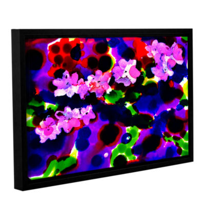 Brushstone Blooming 2 Gallery Wrapped Floater-Framed Canvas Wall Art