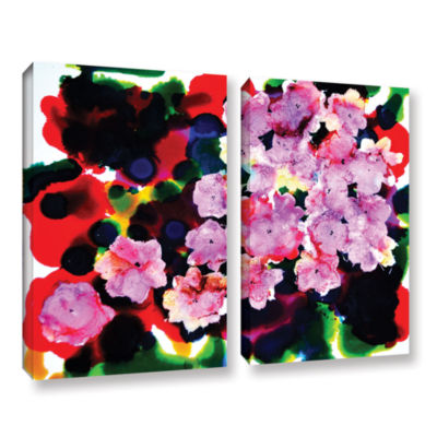 Brushstone Blooming 2-pc. Gallery Wrapped Canvas Wall Art