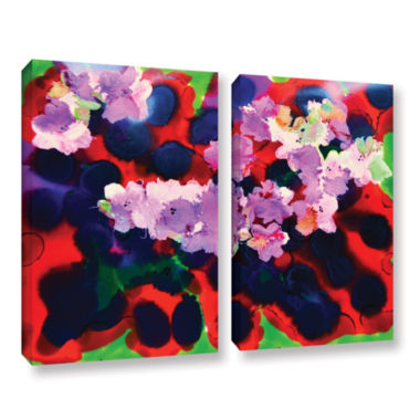 Brushstone Blooming 3 2-pc. Gallery Wrapped CanvasWall Art