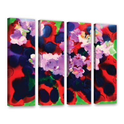 Brushstone Blooming 3 4-pc. Gallery Wrapped CanvasWall Art