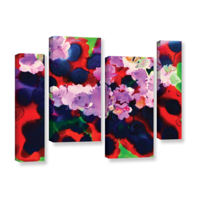 Brushstone Blooming 3 4-pc. Gallery Wrapped Staggered Canvas Wall Art