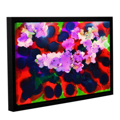 Brushstone Blooming 3 Gallery Wrapped Floater-Framed Canvas Wall Art