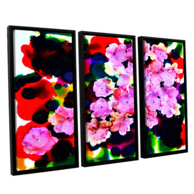 Brushstone Blooming 3-pc. Floater Framed Canvas Wall Art