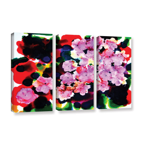 Brushstone Blooming 3-pc. Gallery Wrapped Canvas Wall Art