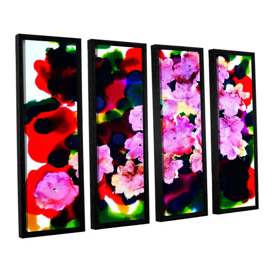 Brushstone Blooming 4-pc. Floater Framed Canvas Wall Art