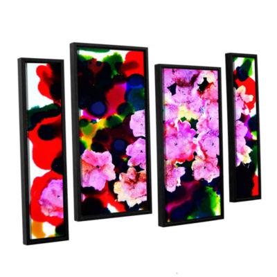 Brushstone Blooming 4-pc. Floater Framed StaggeredCanvas Wall Art
