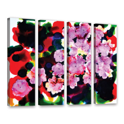 Brushstone Blooming 4-pc. Gallery Wrapped Canvas Wall Art