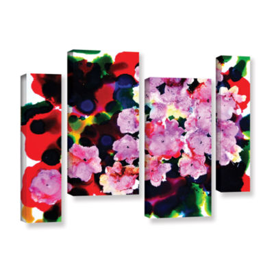 Brushstone Blooming 4-pc. Gallery Wrapped Staggered Canvas Wall Art
