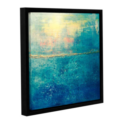 Brushstone Blue Horizons Gallery Wrapped Floater-Framed Canvas Wall Art