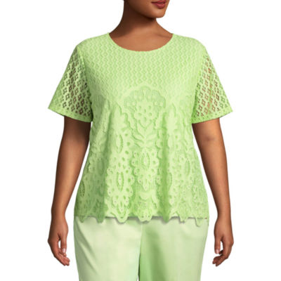Alfred Dunner In The Limelight Allover Lace Tee-Plus