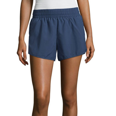 Xersion Shirred Inset Run Short - Tall Inseam 4.75""