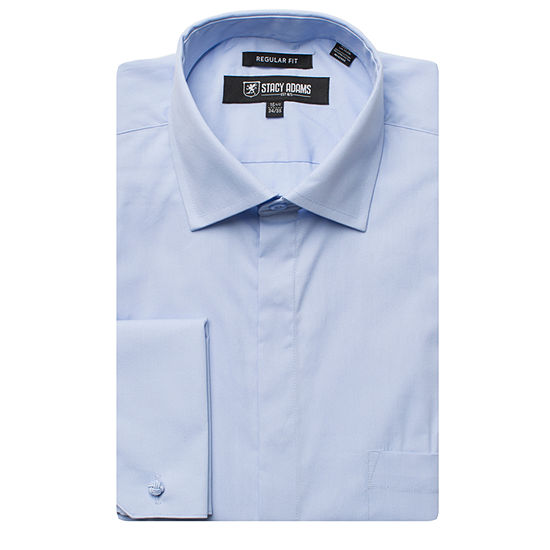 Stacy Adams - Big Mens Point Collar Long Sleeve Dress Shirt