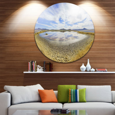 Designart Beautiful Grimshaw Lake Landscape CircleMetal Wall Art