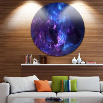Design Art New Galaxy with Nebel Landscape Round Circle Metal Wall Art
