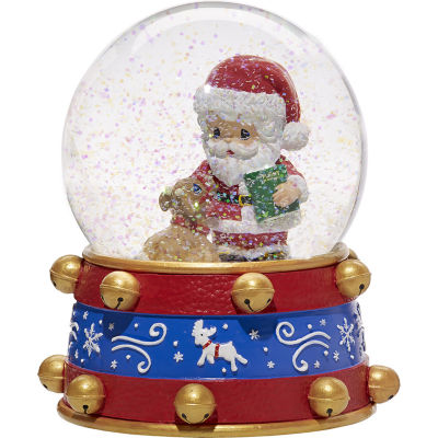 """Precious Moments  """"All Things Are Possible If You Believe""""  Ninth in Annual Santa Series Resin/Glass Musical Snow Globe  #171101"""