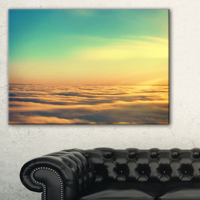 Designart Amazing Plane View Of Sky Canvas Art