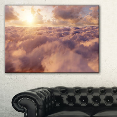 Designart Amazing Sky Above Clouds Canvas Art