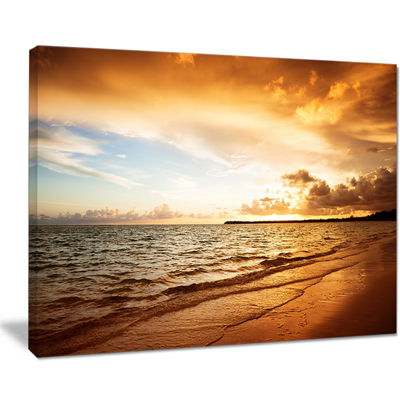 Designart Amazing Sunrise At Atlantic Ocean Canvas Art