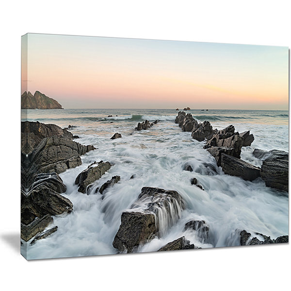 Designart Bay Of Biscay Atlantic Coast Spain Canvas Art