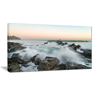 Designart Bay Or Biscay Rushing Waters Canvas Art