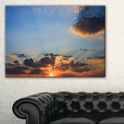 Designart Beautiful Cloudy Sunset Panorama Canvas Art
