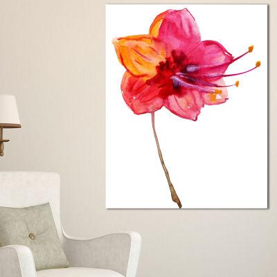 Designart Beautiful Dual Toned Star Flower Canvas Art