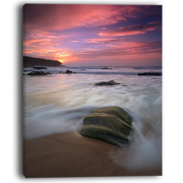 Designart Beautiful Guincho Beach In Portugal Canvas Art