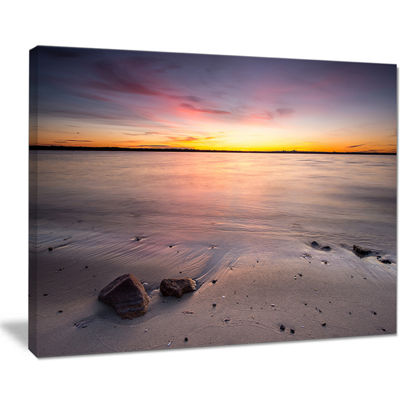 Designart Beautiful Natural Sea During Sunrise Canvas Art