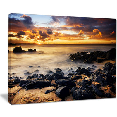 Designart Beautiful Sunset At Philip Island Canvas Art