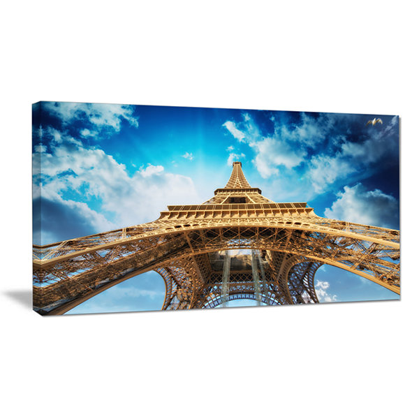 Designart Beautiful View Of Paris Paris Eiffel Towerin Paris Canvas Art