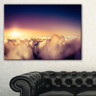 Designart Blue Sky Over Clouds Panorama Canvas Art