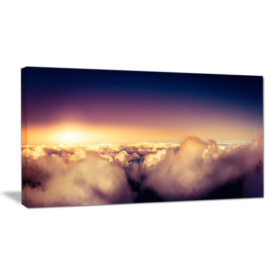 Designart Blue Sky Over Clouds Panorama Canvas Art
