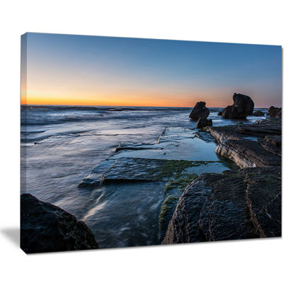 Designart Bluish Sea Waters At Sydney Beach Canvas Art