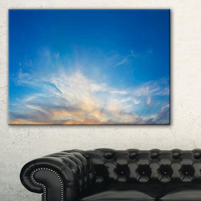 Designart Bright Blue Evening Sky Panorama Canvas Art