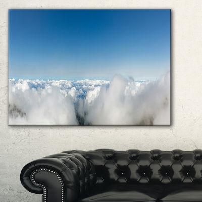 Designart Bright Blue Sky Above Clouds Canvas Art