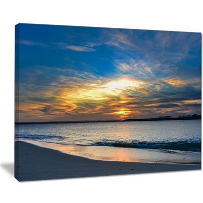 Designart Bright Colorful Sydney Sky Over Beach Canvas Art