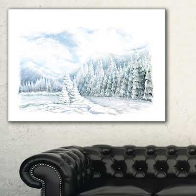Designart Christmas Winter Happy Panorama Canvas Art