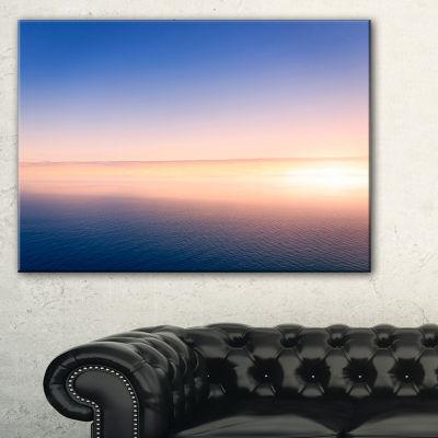 Designart Clear Blue Sky Above Clouds Canvas Art