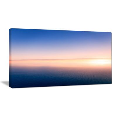 Designart Clear Blue Sky Above Clouds Canvas Art