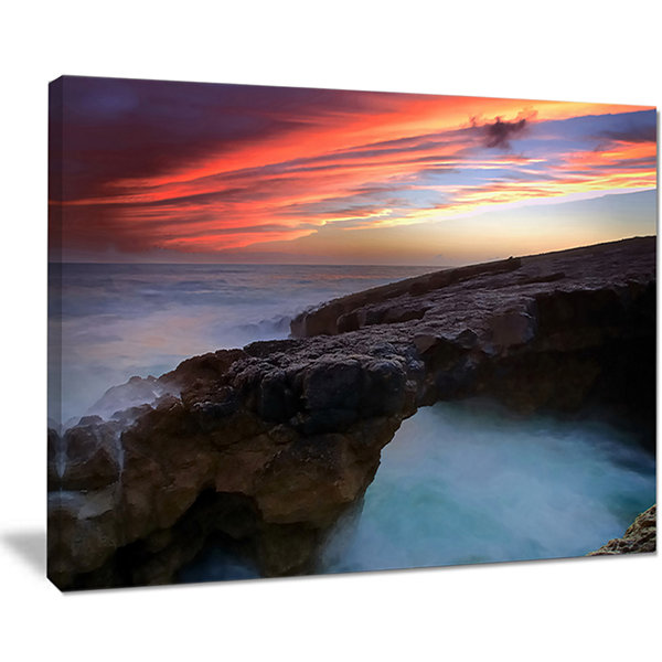 Designart Colorful Cabo Raso Seashore Portugal Canvas Art